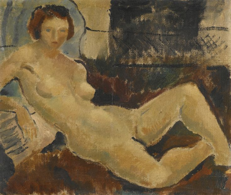 Christopher Wood (English, 1901-1930), Nude with drapery, c.1926. Oil on canvas