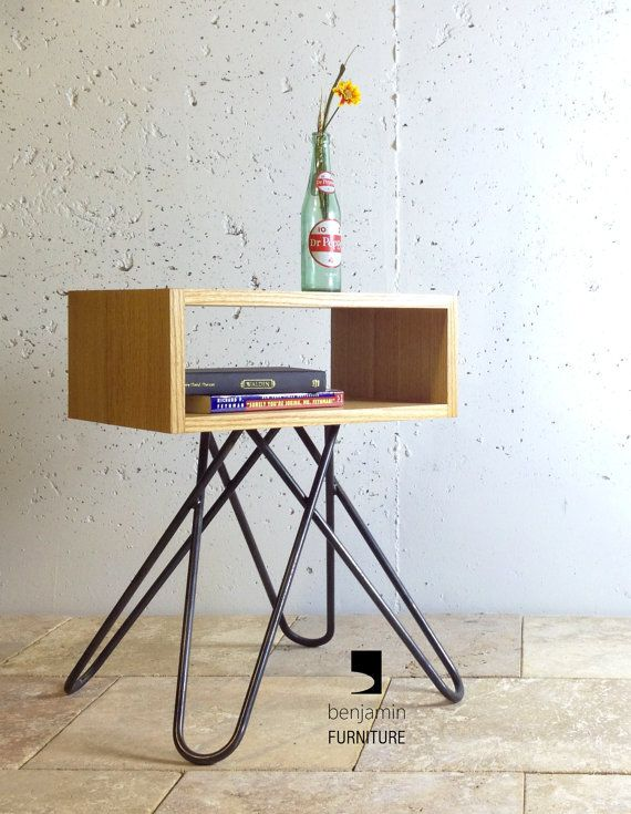 The Crossleg End table mid century end table contemporary