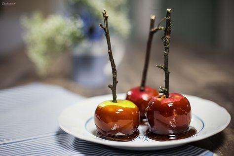 Das ist ein Rezept für hausgemachte Karamell Äpfel