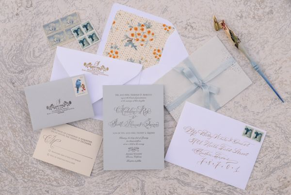 DIY Floral and Lace Wedding Invitations by Antiquaria for Oh So Beautiful Paper