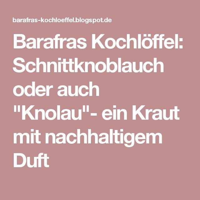 """Barafras Kochlöffel: Schnittknoblauch oder auch """"Knolau""""- ein Kraut mit nachhaltigem Duft"""