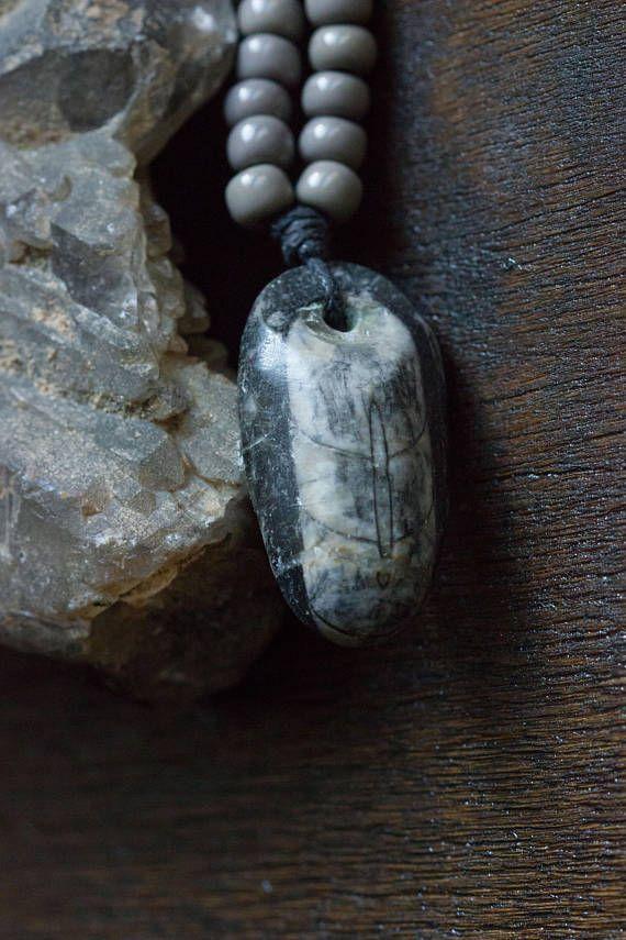 Orthoceras Fossil Pendant Minimalist Necklace Weird Nerd