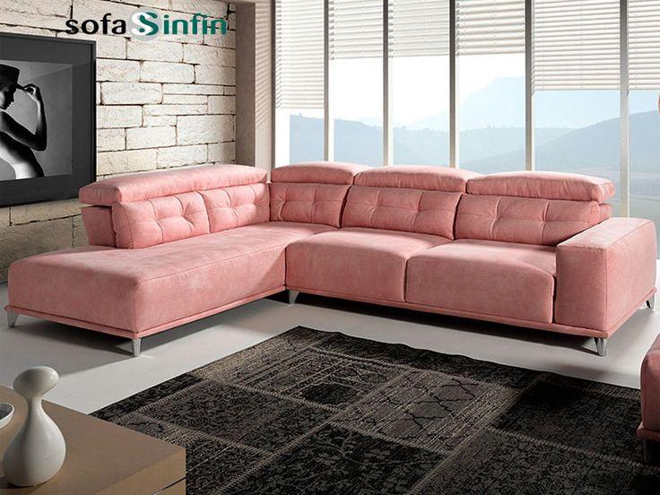 Sof con chaise longue modelo sublime fabricado por for Chaise longue interiores