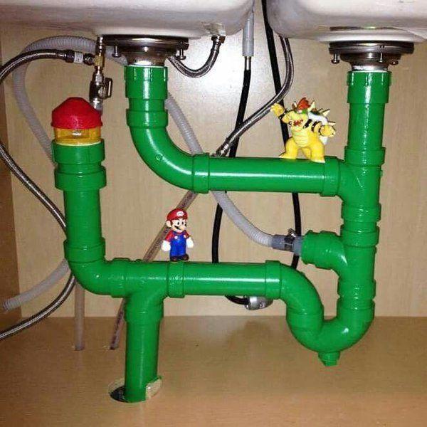 Mario Plumbing Actually Makes Sense