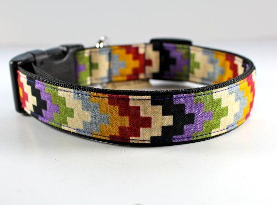 Southwestern chevron style dog collar in colorful by FunkyMutt, $20.00