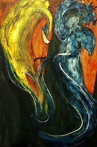 Louis Laprise - Dragon à l'indigo