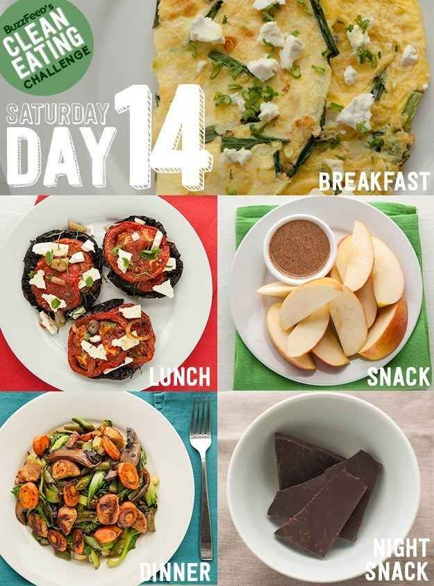 DAY 14 - Take BuzzFeed's Clean Eating Challenge, Feel Like A Champion At Life