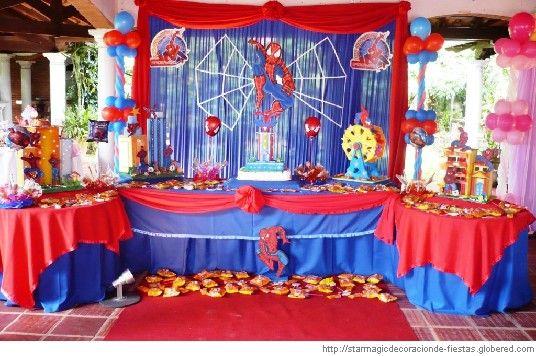 Decoracion de fiesta infantil hombre ara a cumplea os - Decoraciones originales para casas ...