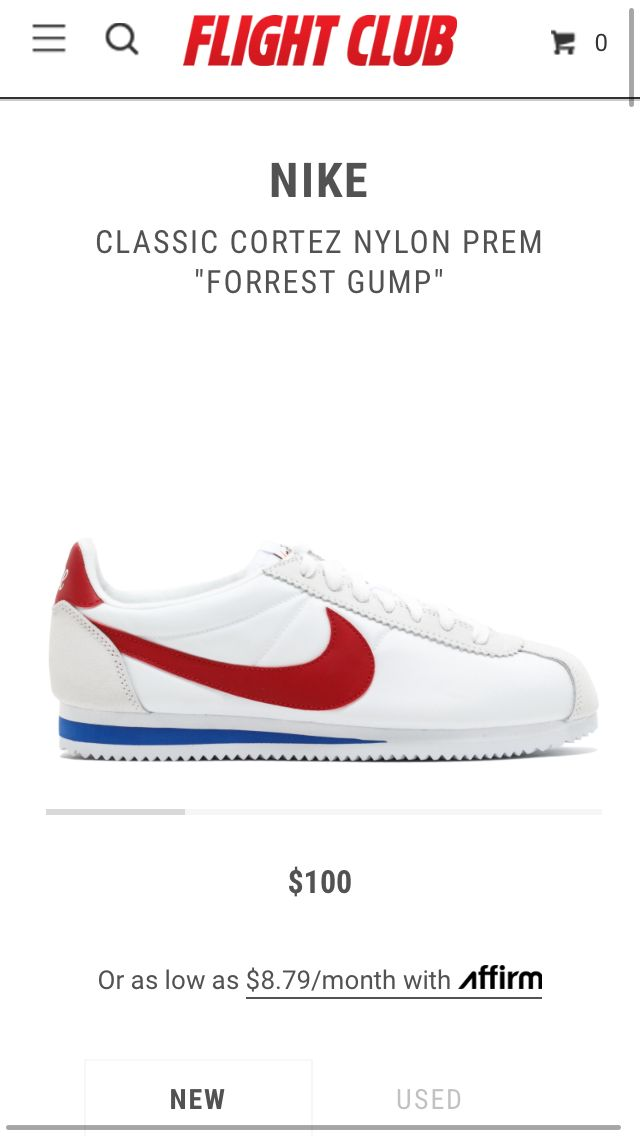 Forest gump Nike Cortez shoes