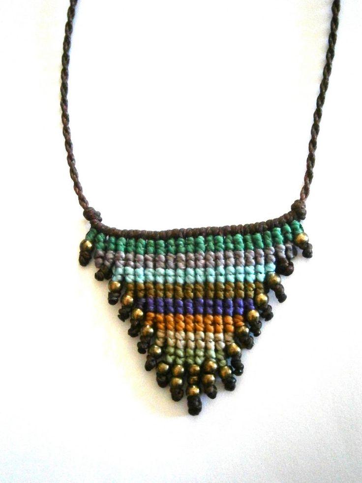Macrame necklace/Boho necklace/Hippie chic by Ancientmacrame