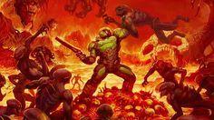 Download Doom 2016 Doomguy vs Demon in Hell 1920x1080