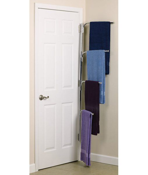 Attractive The Hinge It Clutter Buster Door Towel Rack Is A Great Option For Providing  Extra Hanging Storage Space In Any Room In Your Home.