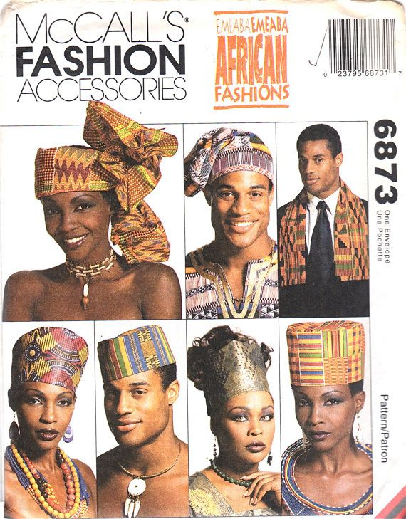 Men Fashion Accessories Patterns McCalls African Fashion