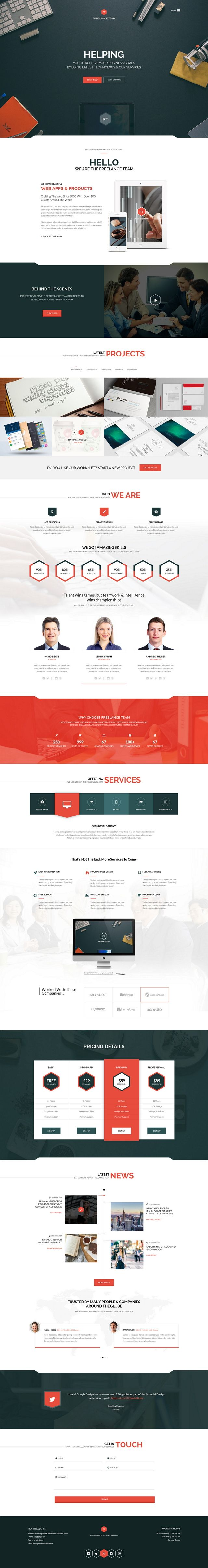 7 New Best Responsive Websites Themes (1st November 2014)