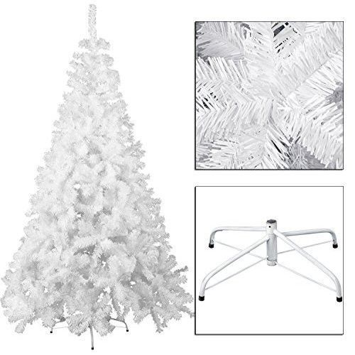 Artificial Christmas Tree White 6ft Spruce Hinged With Metal Stand Xmas Pine NEW #OpportunityBestDealChristmasTree