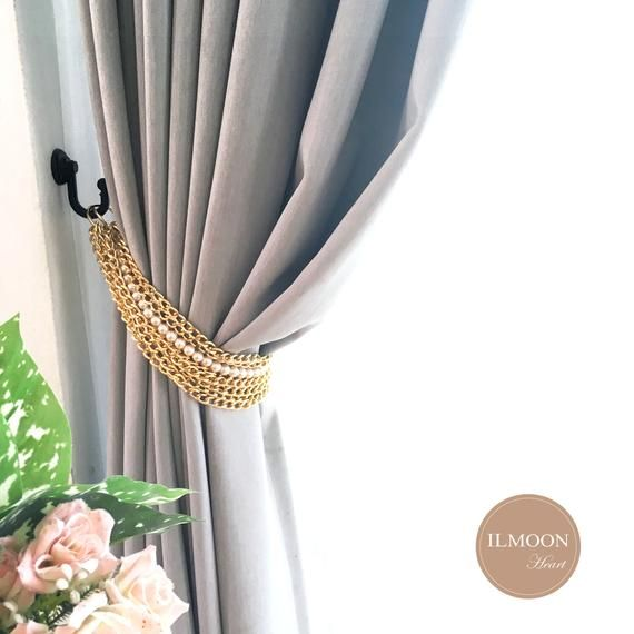 Pairx2 Gold Pearl Curtain Tie Backs Luxury Curtains Etsy Pink And Gold Curtains Luxury Curtains Curtain Tie Backs