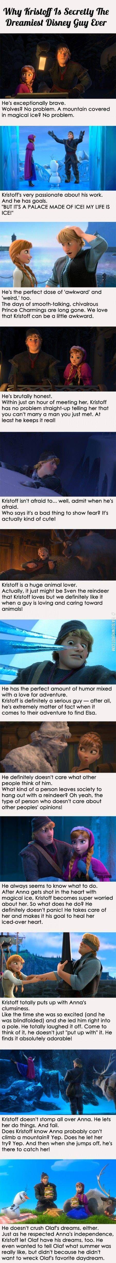 Kristoff, the dreamiest Disney guy.