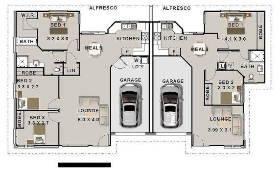 House Plans 2115 Sq Ft 196 M2 5 Bedrooms Duplex Design Modern Duplex Plans Concept Plans Usa Feet Inches Australian Metric Sizes Duplex Design Duplex Plans Duplex Floor Plans