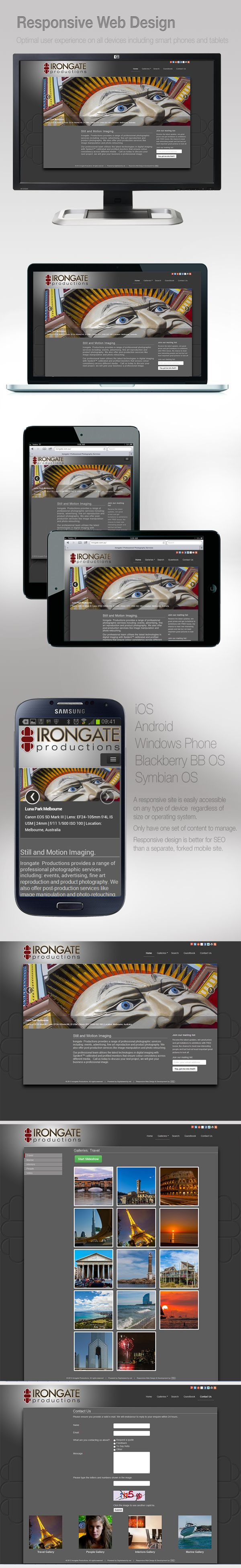 Irongate Productions | Responsive Website by FPID by Fernando Pizzani, via Behance