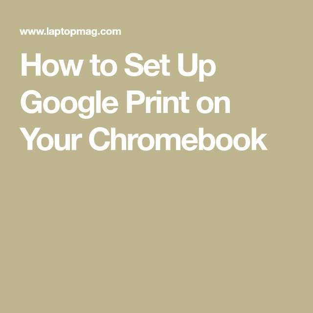 how to set up printer on chromebook
