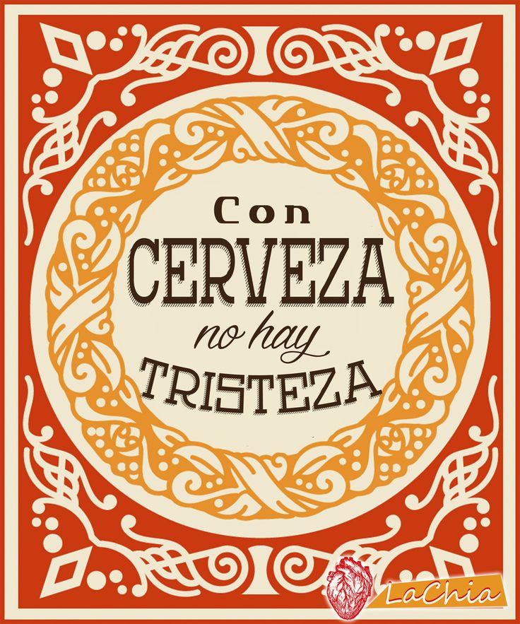 #Lettering #diseñografico #lachia #frases #cerveza #tristeza