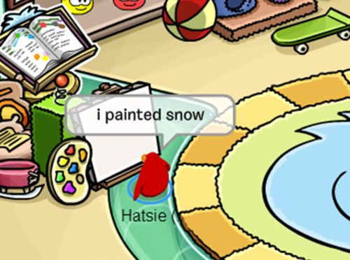 funny club penguin I painted snow<<<click the link, it's hilarious!