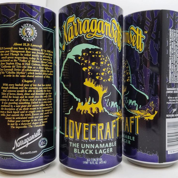 Narragansett Beer Launches 'The Unnamable Black Lager' In Honor of the Classic HP Lovecraft Story
