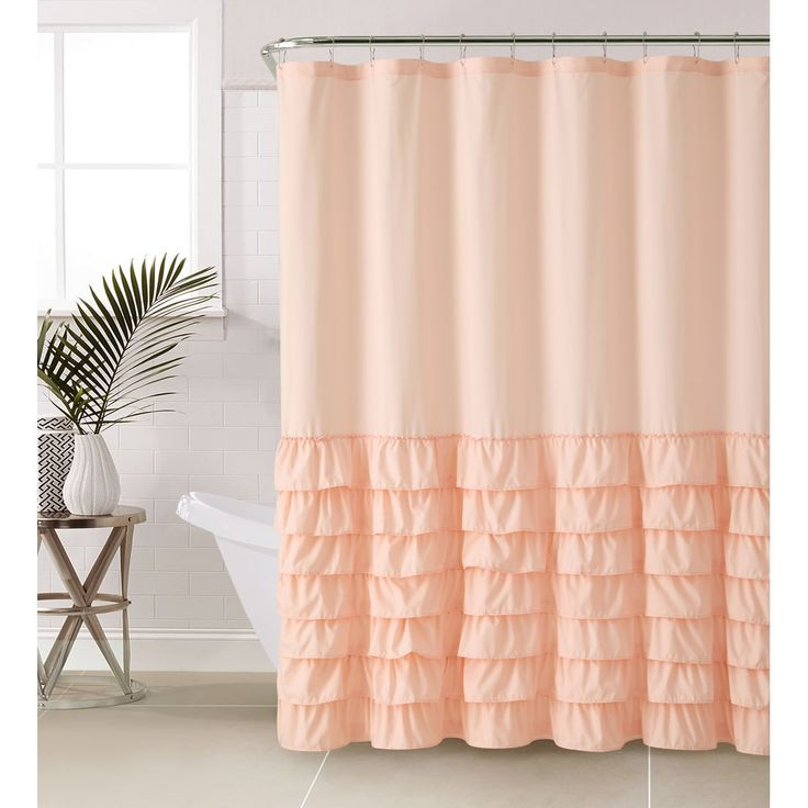 Vcny Melanie Ruffle Shower Curtain in
