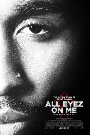 All Eyez on Me (June 16, 2017) a biopic drama film directed by Benny Boom, produced by David Robinson, L.T. Hutton, James G. Robinson. Written by Eddie Gonzalez, Jeremy Hart, Steven Bagutaurian. Stars: Demetrius Shipp, Jr., Danai Garra, Lauren Cohen, Anne IIonzeh, Grace Gibson, Kat Graham, Hill Harper. Based on the untold and true story of hip-hop artist, actor, poet, and activist Tupac Shakur.