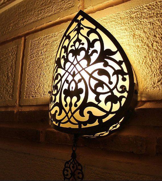 ON SALE Wall lamp, Handmade ottoman style light, modern light, antique light, authentic light,brass,Modern Lamp,Authentic,sconce,
