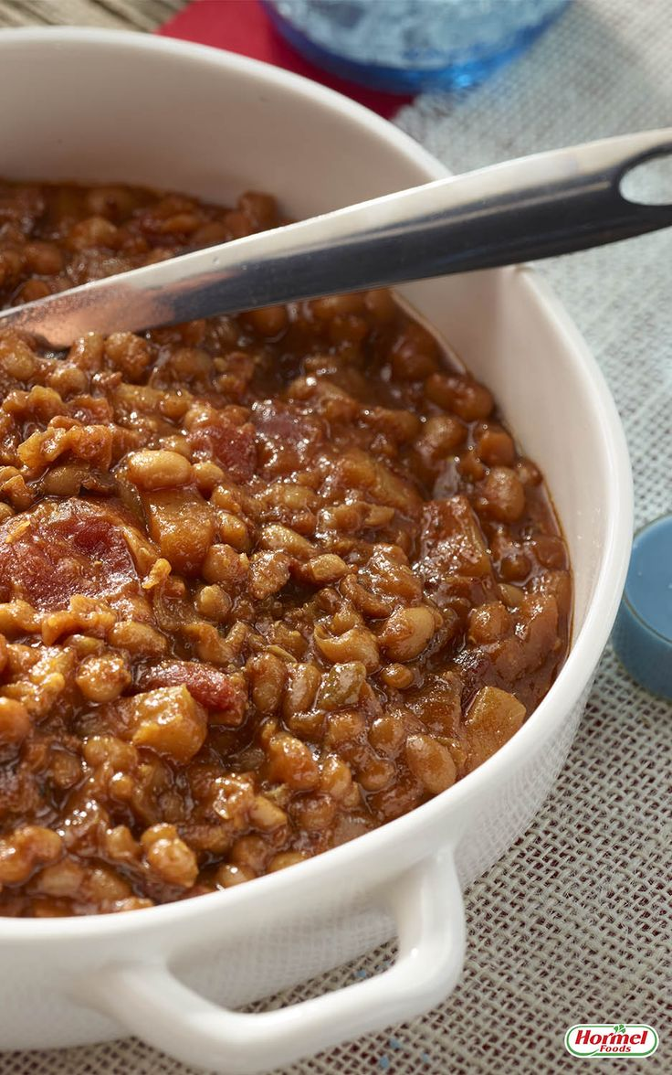 ... baked beans recipe employs the unexpected taste of pineapple to keep