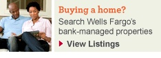 Buying a home? Search Wells Fargo's bank-managed properties. View Listings