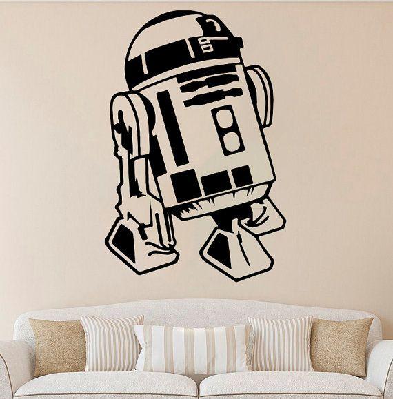R2-D2 Wall Decal Star Wars vinile adesivo Comics da parete in vinile di decalcomanie parete Decor /2mkl/