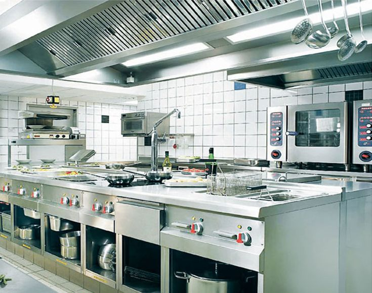 Kitchen restaurant equipment layout uotsh throughout for Equipement cafe