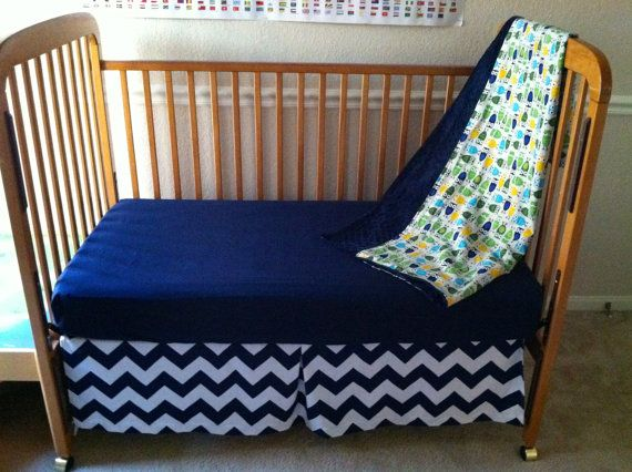 Owl Baby Bedding with Chevron accentsblue by WildflowerQuilting, $260.00