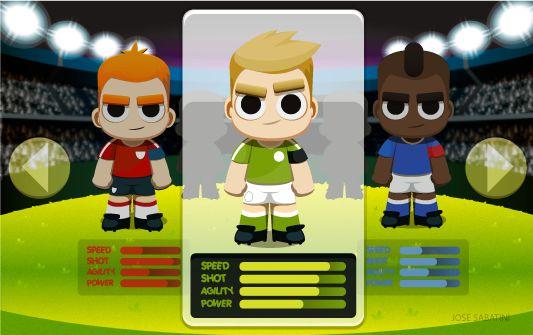 American soccer & European Football mobile game concept
