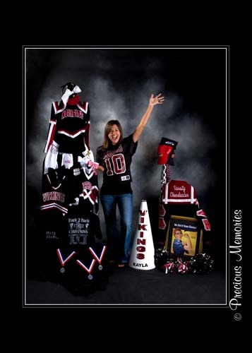 Great senior cheer pic, four years of memories in one pic.