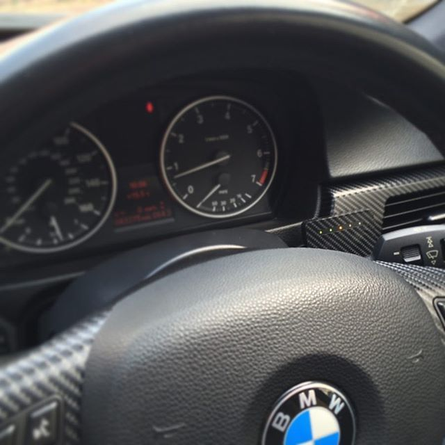 Target Blu Eye installed into a BMW E90 and wrapped the
