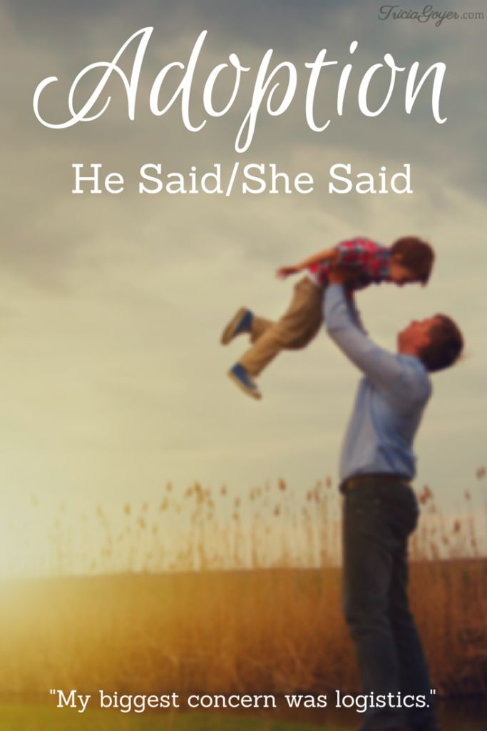 This post is part of For the Family's He Said/She Said series. My husband, John, and I share our perspectives on our adoption journey.