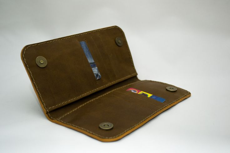 Leather wallet - by adriana herrera