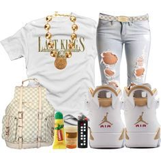 polyvore outfits for teenage girls with jordans - Google Search