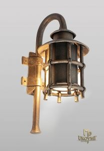 A wrought iron wall light Classic M