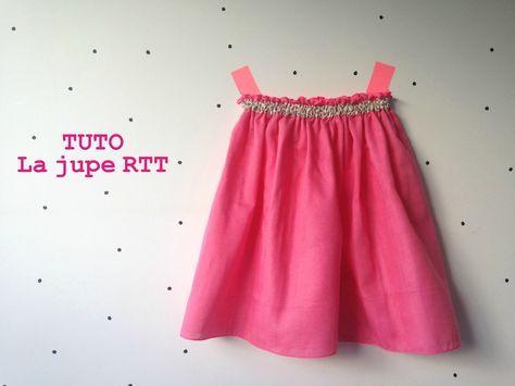 tuto gratuit de jupe RTT pour fille, pour coudre la double gaze en coton bio vendue en ligne au mètre sur 36bobines.com, boutique en ligne de tissus, patrons de couture et mercerie