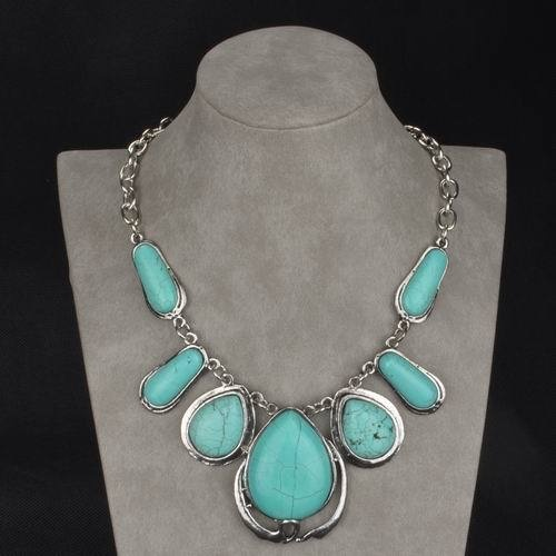 GENUINE TURQUOISE TEARDROP NECKLACE, $61.90