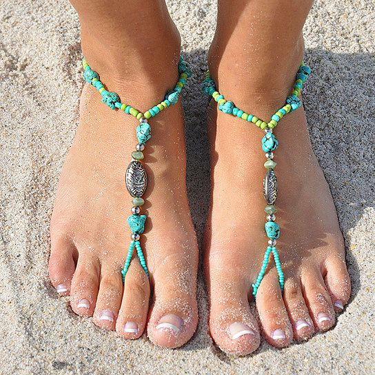Want to try making something similiar to these (Barefoot) Coral Reef SunSandals