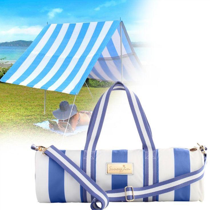 Sunny Jim- Beach Shades-Sunshade with Yoga Bag {Byron Bay Blue}