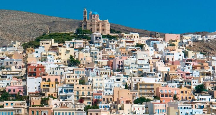 "Good morning from the beautiful & colorful Syros island! Check out the cruises including the ""Lady of the Cyclades"" and give some colour to your holiday! #travel #Syros #Cyclades #Greece"