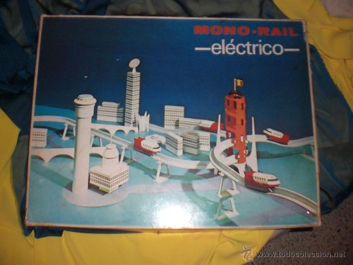 MONO RAIL ELECTRICO DE RICO, JUGUETE ANTIGUO MONORAIL , JUGUETES RICO , TREN ANTIGUO