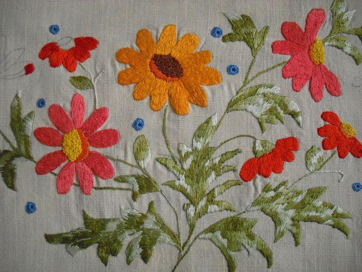Flores.Bordado livre - bordado - embroidery