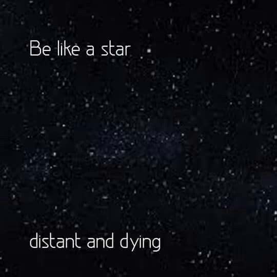 Be like a star.